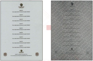 COPY PROOF PAPER BEFORE AND AFTER PHOTOCOPY
