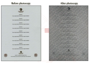 COPY PROOF PAPER BEFORE AND AFTER COPY
